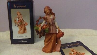 """Fontanini 5"""" Figure Bethany carrying a basket and water jug new in box"""