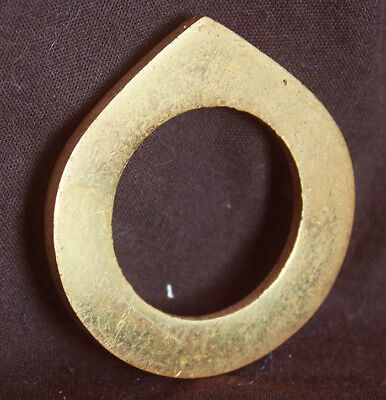 "2""x2"" Vintage NOS Antique SOLID Cast Brass Door Cylinder Mortise Key Hole Plate"