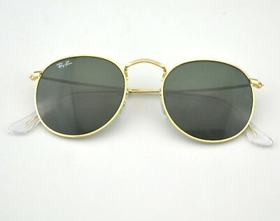 Ray Ban RB3447 Round Metal 001 Gold Frame/ Green Classic G-15 Lens Sunglasses