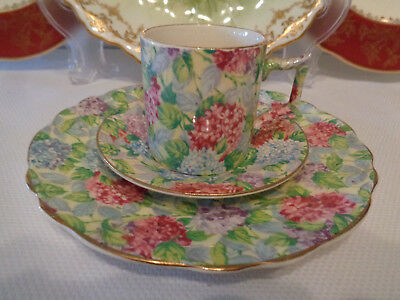 James Kent Trio - **Hydrangea** Chintz Pattern - Great Colours & Good Condition