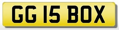 GG 15 BOX- unique Horsebox number plate available NOW
