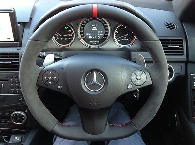 Mercedes Benz C Class Steering Wheel Upgrade W204 Leather AMG C63S