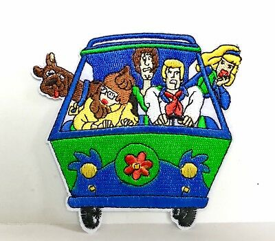 Scooby Doo Mystery Machine Shaggy  Embroidered Appliqué  Patch Sew Iron On