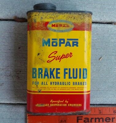 Vtg Mopar Brake Fluid Oil Can Chrysler Dodge Plymouth Desoto Car Truck