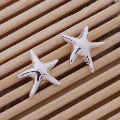 925 Sterling Silver Plated Starfish Stud Earrings + Free Gift Bag.