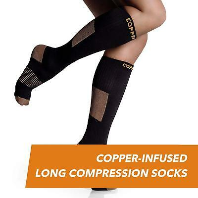 CopperJoint Copper-Infused Long Compression Socks (Pair) Blood Circulation L/XL