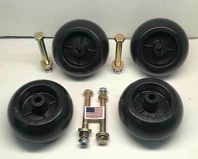 4 Deck wheel + Kit  REPLACEMENT *USA MADE*  Fits Hustler 788166 31997 781567