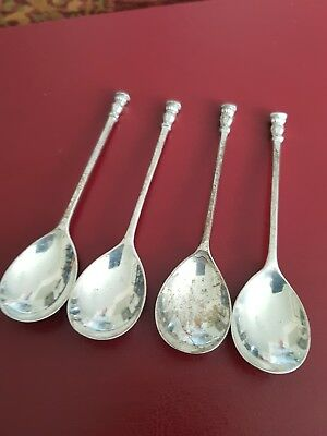 Set of Hallmarked Silver Seak Top Style Spoons