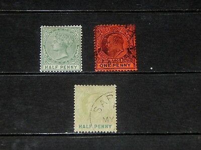 Lagos stamps for sale - 3 mint hinged and used early stamps - nice group !!