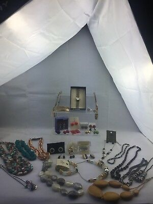Job Lot Of Mixed Costume Jewellery Some New