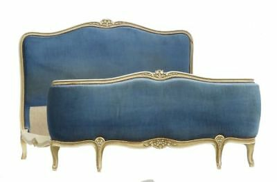 French Bed + Base UK Double Corbeille use or recover Vintage Louis revival