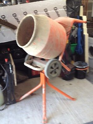 Belle Minimix 150 cement mixer with stand. 240 volt. very light use.