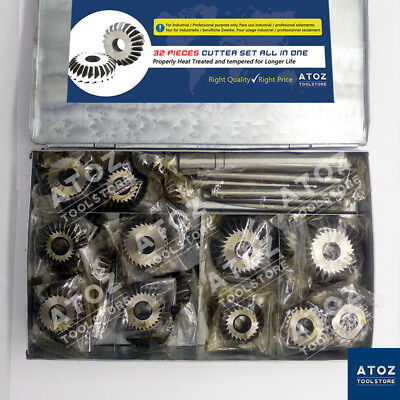 32 Pieces Valve Seat Engine Face Cutter Set All Big Small Cutters Box Atoz