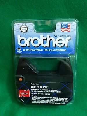 NEW Brother Typewriter Correctable 1030 Film Ribbons 1230 Black AX Series 2 Pack
