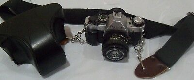 Canon AE-1  Program Film Camera 35mm & 50mm 1.8 lens and  leather carring case