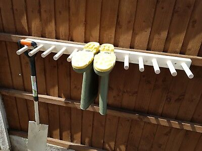 Wooden Wall Mounted Welly, Wellington Boot Rack, Wellie, Tool, Stand
