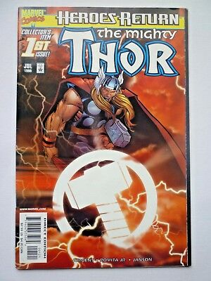 The Mighty Thor 1 Heroes Return Sunburst Variant Cover 1998