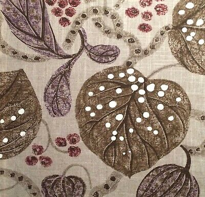 DESIGNERS GUILD William Yeoward Astasia Floral Natural Linen Remnant New