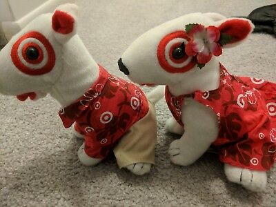 Target Bullseye Plush Dog Mr and Mrs Hawaii 2009 - 15109 Of 25000 Luau