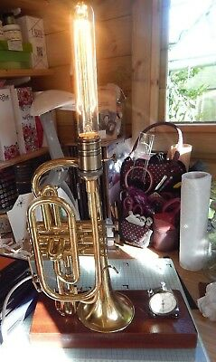vintage Boosey and Hawkes cornet lamp