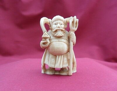 Japan netsuke Bishamon
