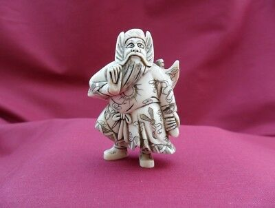 Japan netsuke Warrior (Bishamonten)