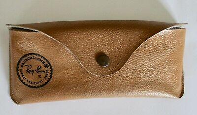 Vintage B&L Ray Ban Bausch & Lomb Aviator Sunglasses Pebbled Leather Case