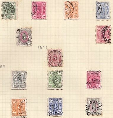 1875-1920 FINLAND on 2 album pages used