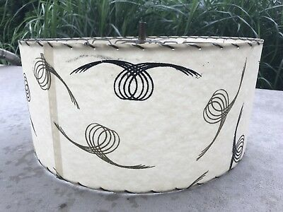 Vintage Mid Century Modern Atomic Retro Light 50s 60s Fiberglass Lamp Shade