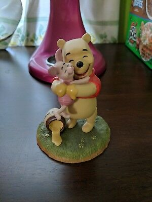 Winnie the Pooh and Piglet Porcelain Figurine Disney Pooh & Friends Collectible