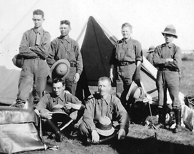 post WW1 WWI Canadian soldiers - militia or army camp