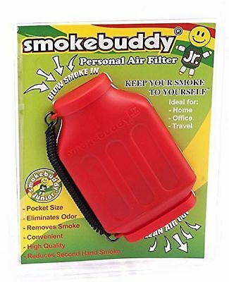 RED Smoke Buddy Jr. Personal Air Purifier Cleaner Filter Removes Odor