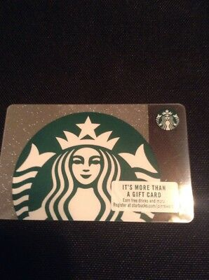 New Starbucks 2018 Us Silver Sparkle Siren Gift Card Limited 6154