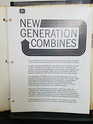 """John Deere New Generation Combines"" 1969 Product Information Manual Illustrated"