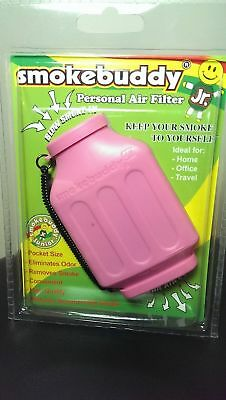 Pink Smoke Buddy Junior - Personal Air Purifier, Filter, and Odor Diffuser