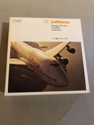 Herpa Wings Lufthansa B747-400 D-ABVS Saarland 1:500