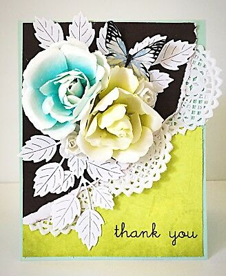 Handmade Shabby Chic 3d Butterfly Ephemera All Occasion Card By
