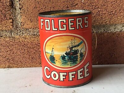 Vintage Advertising Folgers Coffee Tin Can Puzzle Unopened Promotion