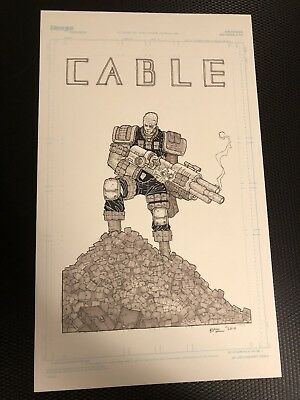 Cable Of 1,000 Pouches Original Art By Ryan Bodenheim Heroes Con Lot Doc Shaner