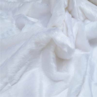 "Short Pile White Fur Fabric 14mm 60"" 150cm wide"