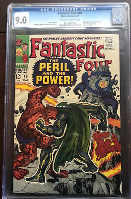 FANTASTIC FOUR #60 comic booi/from 1967/CGC VF/NM 9.0 copy/ONLY $29.95!