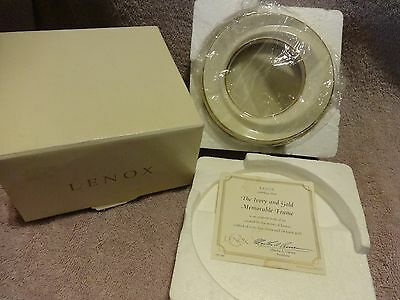 Lenox The Ivory and Gold Memorable Frame Fine China & 24 Karat Gold( New in Box)