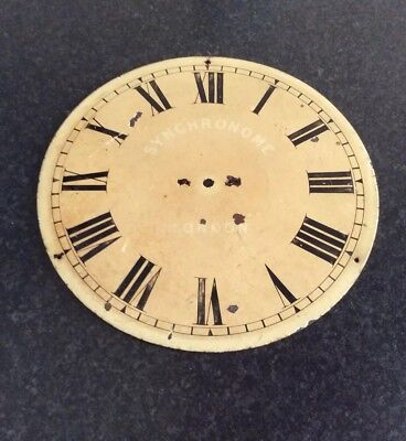 VIntage Synchronome Clock Dial