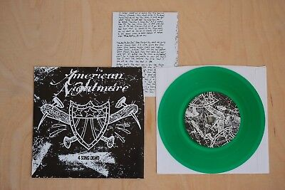 "American Nightmare - 4 Song Demo 7"" inch   Hardcore Punk Give Up The Ghost"