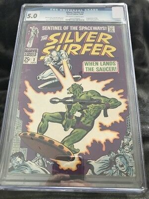 The Silver Surfer 2 CGC 5.0 from 1968! Marvel Silver Age