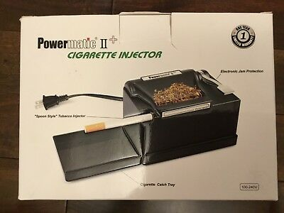 Powermatic 2 + Electric Cigarette Injector Spoon Style Rolling Machine Box 100mm