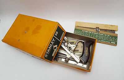 Incredible Fine Almost Perfect Boxed STANLEY No 50 Combination Plough Plane 8428