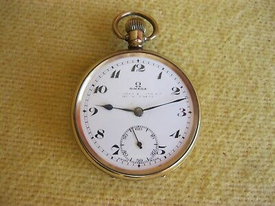 OMEGAWorking Gold Plated  Pocket Watch  1938/9