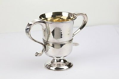 George III Newcastle 1769 sterling silver twin handled cup, provincial