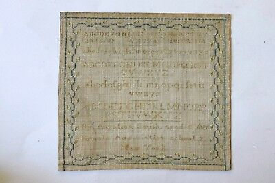 Quaker 1820 Female Association School  #2 New York City Alphabet Sampler